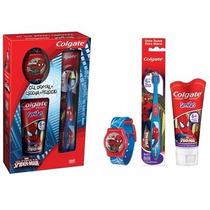 Kit Escova + Creme Dental Spiderman - Colgate +relogio