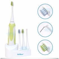 Escova De Dente Elétrica Techline Eda-10 C/ 3 Refis Adulto