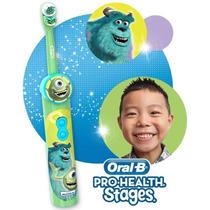 Escova Dental Elétrica Infantil Monstros Sa. Pronta Entrega!