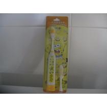 Escova De Dente Eletrica Infantil Bob Esponja