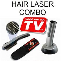 Escova Hair Laser Comb - Fim Calvície E Queda De Cabelos