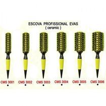 Kit Escova Evas 6 Peças Original + Brinde Óleo Argan 7ml