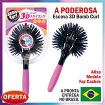 Escova 360° 3d Hair Bomb Curl Brush Ball Modeladora De Cacho