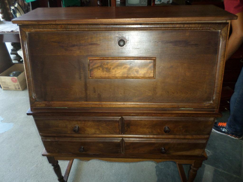 Escrivaninha Antiga Madeira Canela R$ 500 00 no MercadoLivre #916B3A 1024x768