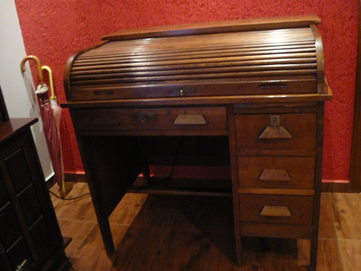 Escrivaninha Xerife Antiga De Imbuia R$ 2.800 00 no MercadoLivre #7A321C 1200x900