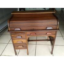 (only Wood) Escrivaninha Xerife Restaurada Decada 40 Imbuia