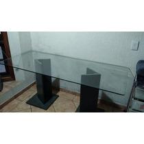 Mesa Para Escritório Com Tampo De Vidro E Pés De Ardósia