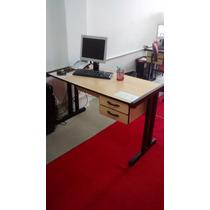 Mesa Para Escritório Usada 1,60m X 60cm Com Vidro