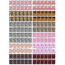 Cartelão 12 Cartelas 144 Adesivos Unhas Decoradas Peliculas