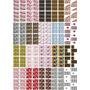 Cartelão P20 Cartelas 240 Adesivos Unhas Peliculas Nail Art