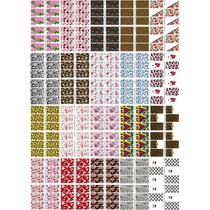 Cartelão P20 Cartelas 240 Adesivos Unhas Decoradas Peliculas