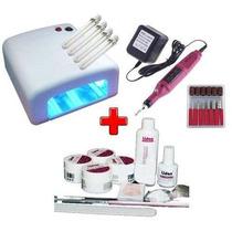 Kit Acrigel - Cabine + Lixa + Kit Gel Lidan 12 Itens