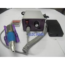 Lixa Elétrica Bivolt Para Unhas De Porcelana/gel Com Pedal