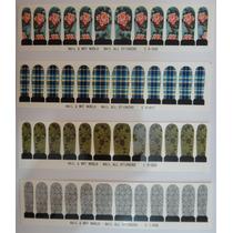 4 Cartelas Adesivos Decalque Decora 48 Unhas Ñ Repete Brinde