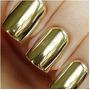 16 Adesivos Películas Para Unhas Dourado Prata Preto