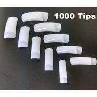 1000 Tips Unha Postiça P/ Gel Acrigel Acrilica Natural Nail