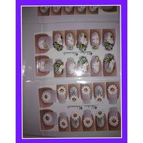 Adesivos Artesanais P/ Unhas-lote De 50, 100 Ou 150 Cartelas