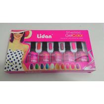 Kit Esmalte Acrigel Shellac Gel Color Lidan Id: M-90130-1