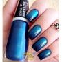 Esmalte Ludurana Bruna Marquezine Degradê Azul Blue Black
