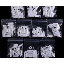 Unhas Gel Uv 500 Tips Branca Natural Kit Unha Gel Manicure