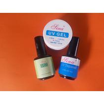 Kit Primer No Burn+top Coat + Gel Clear Uv + Cabine + Pincel