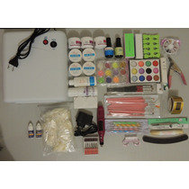 Kit Unhas Gel, Acrygel E Porcelana Cabine 36w Pronta Entrega
