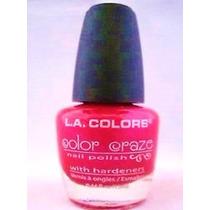 Esmalte Glitter La Colors Pink Paradise 13ml Rosa Burgundy