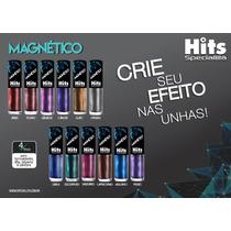 Esmaltes Hits Magnético Degradê Kit Com 12 Cores