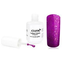Esmalte Gel Uv Carbon Colour Jolifin Neon Purpl Glitter 14ml