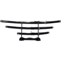 Espada Samurai Sabre Ornamental 3 Peças Luxo Katana