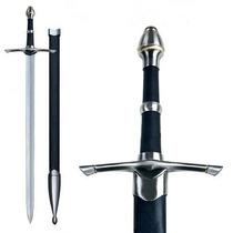 Espada Medieval Longa Knight Cavalaria Golden Ring