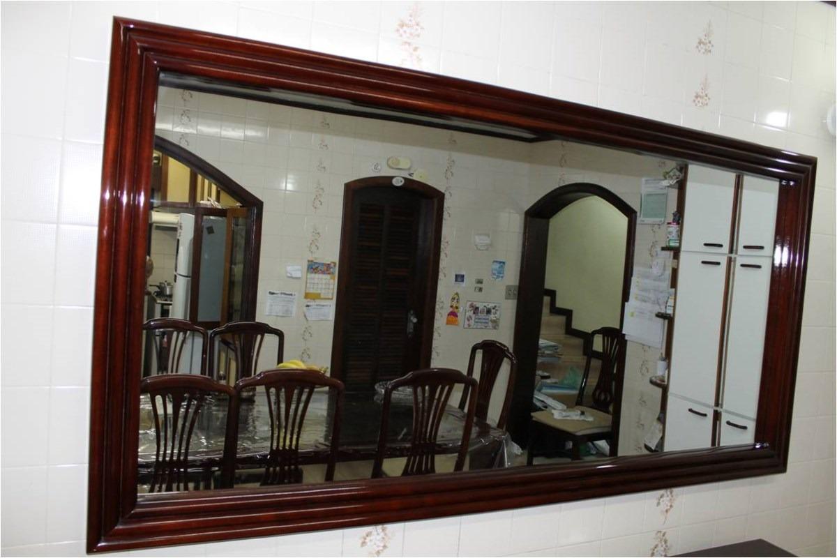 Espelho Em Moldura Para Copa Ou Sala Em Mogno Resistente R$ 1.800 00  #63372C 1200 800