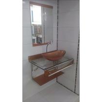 Gabinete / Armário Banheiro Vidro Espelho Dourado 90 X 56