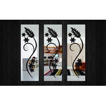 Espelho Decorativo - Quadrados Florais Ref. E011