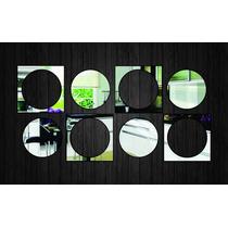 Espelho Decorativo - Quadrados E Bolas Ref. E007