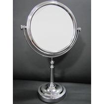 Espelho Mesa Dupla Face G G Cromado De Aumento 2 X P/ Make