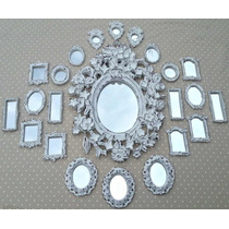 Kit 25 Espelhos / Molduras Estilo Provençal
