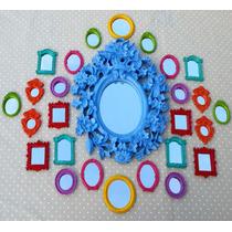Kit 25 Espelhos / Molduras Coloridos