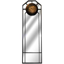 Espelho Armação De Ferro/ Relógio Paris Oldway - 168x51 Cm
