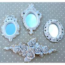 Kit 3 Espelhos / Molduras Estilo Ouro Provençal