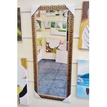 Espelho Grande C/ Moldura 120x50cm/ Frete Só P/ Gd S. Paulo