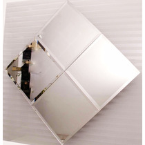 4 Espelhos Bisotê Em Diagonal 86x86cm Frete Só P/ Gd S Paulo