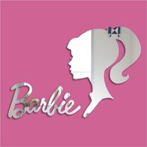 Espelho Adesivo Acrílico Quarto De Menina - Barbie