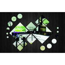 Espelho Decorativo - Quadrados E Bolas Ref. E029
