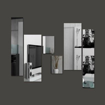 Espelho Decorativo - Kit Retângulos 6 Peças