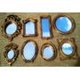 Kit 8 Mini Espelhos Decorativos Com Moldura De Resina+brinde