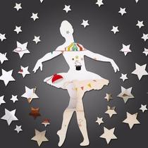 Espelho Decorativo Bailarina Grande Em Acrílico Sala Quarto
