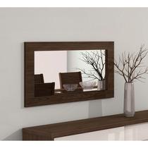 Quadro Com Espelho Para Sala De Jantar Lopas Buzios Imbuia