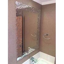 Espelho Bisote Decorado Para Banheiro, Quarto, Etc.
