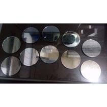 Kit 10 Espelhos De 2mm De Espessura Redondos Para Decoração